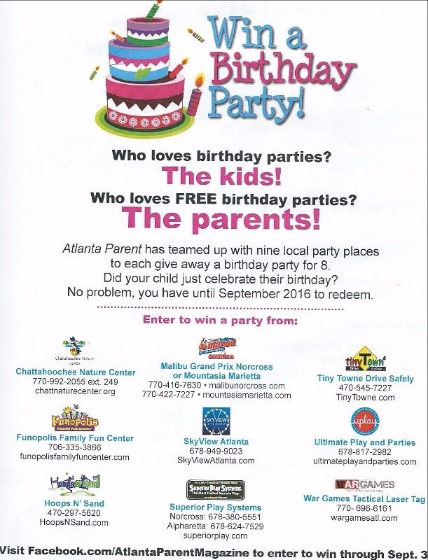 EASY BIRTHDAY PARTY CONTEST